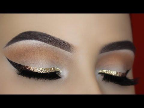 Gold Glitter Ombre Liner Makeup Tutorial