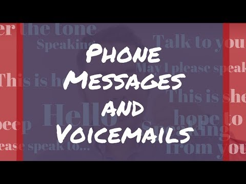 How to Leave a Voicemail Message | English Telephone Skills