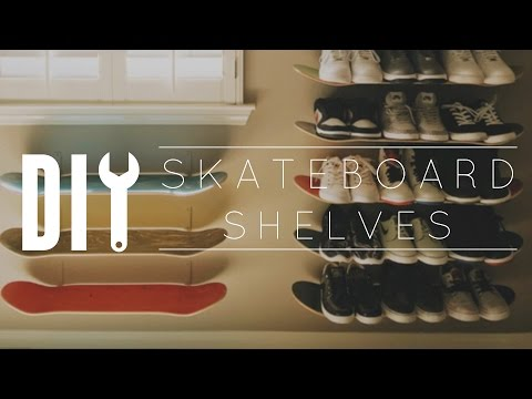 DIY Skateboard Wall Shelf