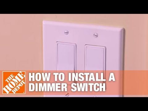 How to Install a Dimmer Switch (Single Pole/Three Way Light Switch)