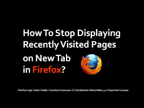 How to Stop Displaying Recently Visited Pages on New Tab in Firefox