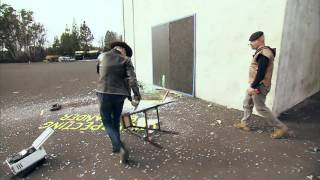 MythBusters   Can falling glass slice you in two?
