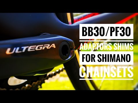 BB30/PF30 Shimano Ultegra chainset install with Wheels Manufacturing Shims. [4K]