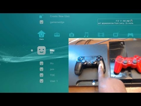 How To Use DS4 Wireless with PS3 DualShock 4 Menu Interface Tips & Tricks