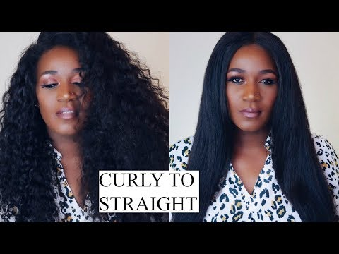 CURLY TO STRAIGHT HAIR IN 20 MINUTES | NADULA HAIR