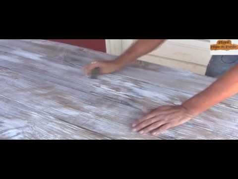 How to Distress Finish Stained Table