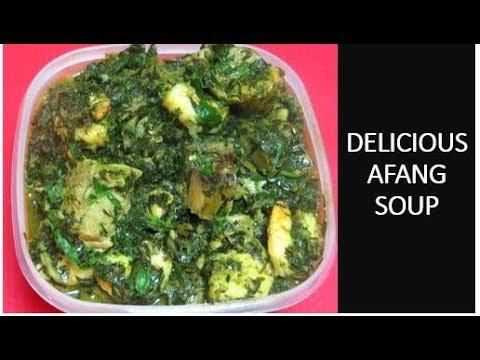DELICIOUS AFANG SOUP | NIGERIAN | AKWA IBOM | AFANG SOUP