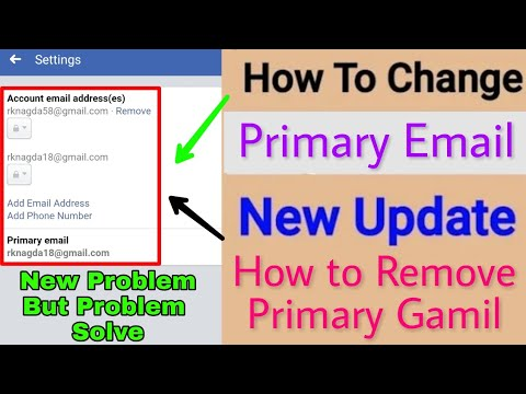 How to change Facebook Primary Email || How to Change Facebook Gmail Address How to Remove Primary G