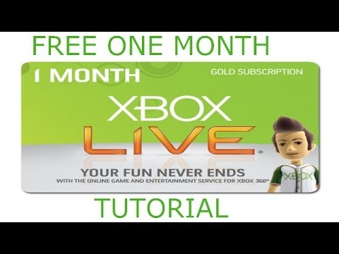 Free XBox Live One month Tutorial