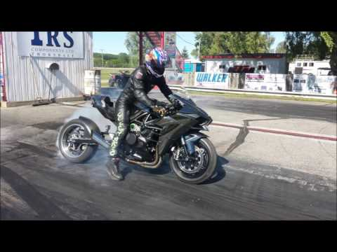 Worlds Fastest Kawasaki Ninja H2 - 1/4 Mile - New Record!!!!