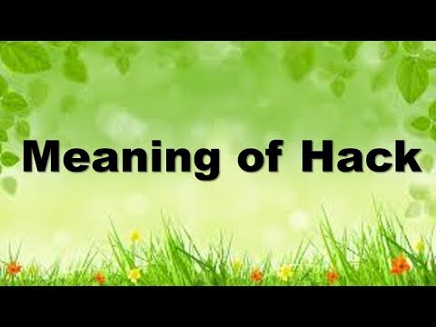 Meaning of Hack