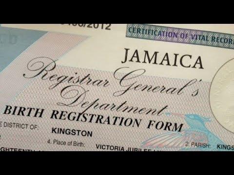 BIRTH CERTIFICATE APPLICATION JAMAICA