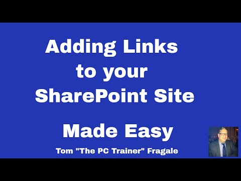 Adding Links to a SharePoint Site - how to add links to your SharePoint Site - SharePoint 2016 2013