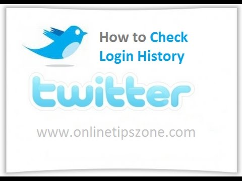 How to check Twitter Logins History