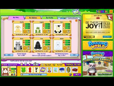 Webkinz account for sale! (Retired pets, rare items & more!)