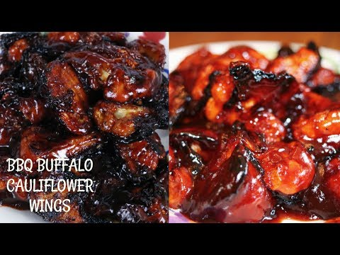THE BEST BBQ BUFFALO CAULIFLOWER WINGS EVER!!! | VEGETARIAN/VEGAN
