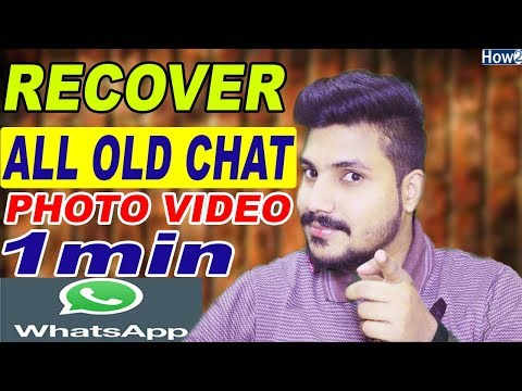 How to Recover Whatsapp Deleted Messages | Restore Chat History | Without Backup Urdu Hindi 2018