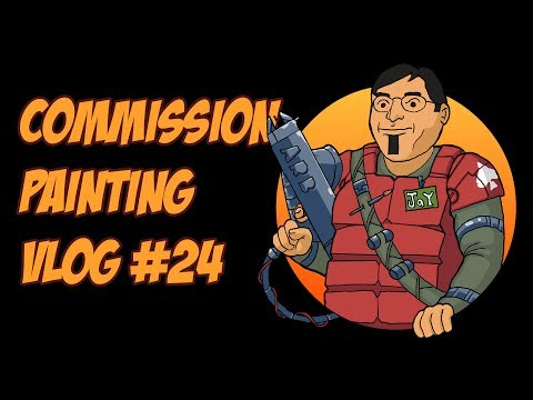 Commission Painting Vlog #24