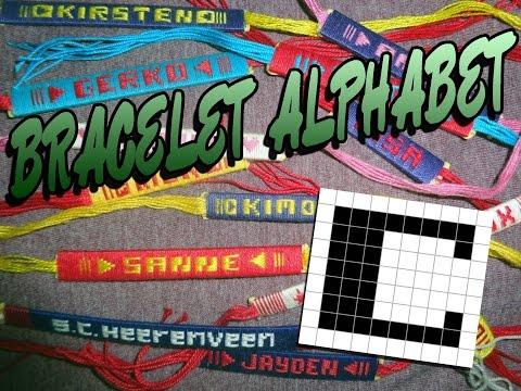 Friendship Bracelet Crochet Yarn, Alphabet: Letter C