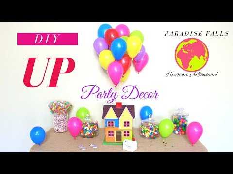 UP THEME BIRTHDAY PARTY DECORATIONS   DIY KIDS PARTY DECORATION IDEAS