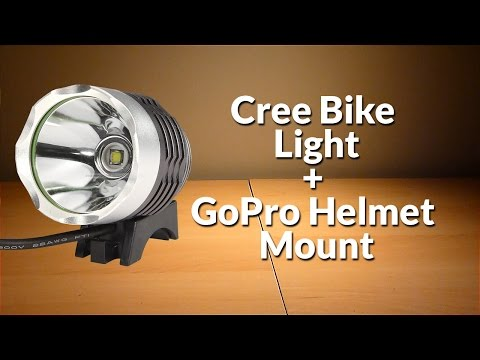 DIY Cree Bike Light GoPro Helmet Light Mount
