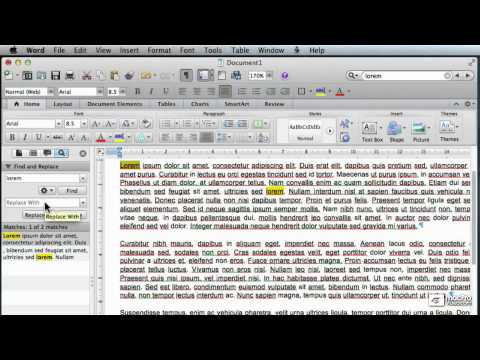 Word For Mac 101: Creating And Formatting Letters - 18. Find and Replace