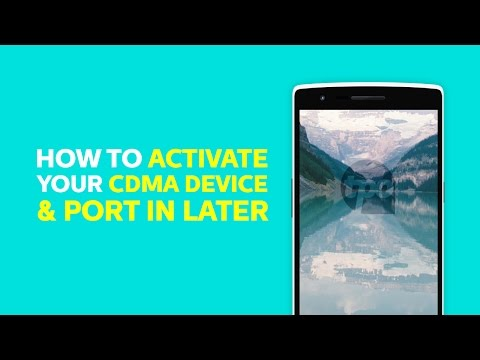 How to Activate a CDMA Device and Port Your Number Later | TPO Mobile