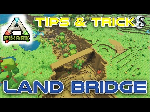 PIXARK #1 HOW TO CREATE A FLOATING LAND BRIDGE - PIXARK BUILDING TIPS AND TRICKS
