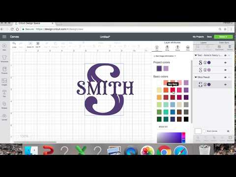 How To Slice a Letter To Make a Monogram in Cricut Design Space