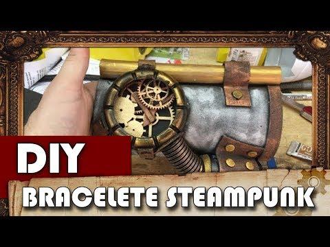 DIY STEAMPUNK BRACER/ BRACELETE- CANAL STEAMPUNK