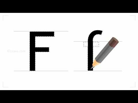 How to write the english letter F?