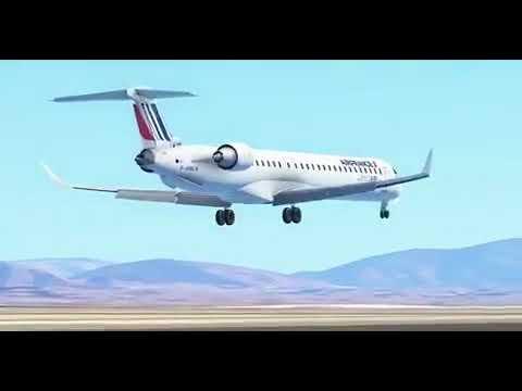 Infinite Flight Update - Airfrance CRJ1000 Crosswind Landing! [MUST WATCH]