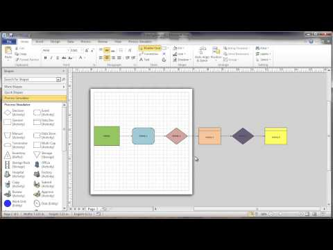 How to Change the Size of a Visio Drawing Page (Background Grid) - Process Simulator Solution