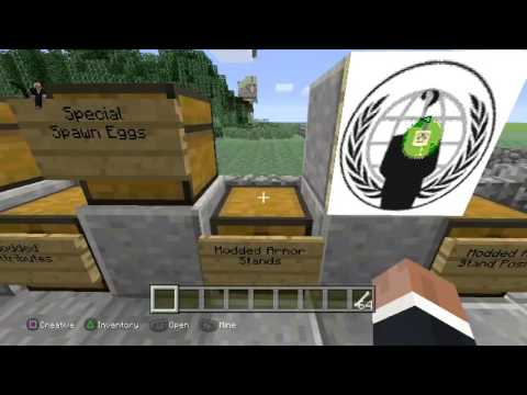 Minecraft ps3 modded map with every mod!!! Download OUT NOW!!!!!!