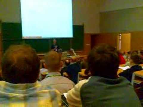 Zed Shaw talking at RuPy 2008A