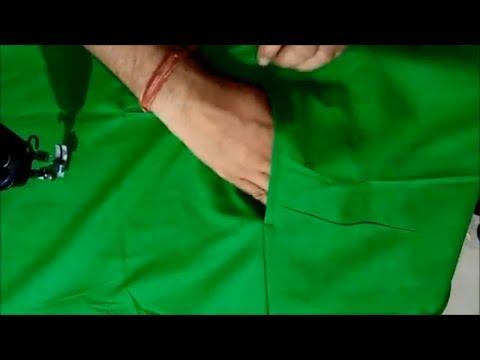 प्लाजो पेंट मे जेब लगाने का आसान तरीका - Palazzo Pants With Side Pocket Stitching