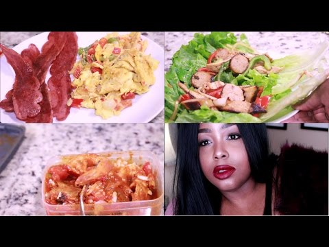 Weightloss Transformation 2017  What I Ate Today High Protein Low Carbs