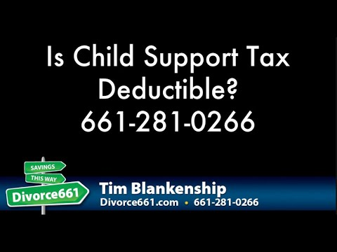 Is Child Support Tax Deductible? | California Divorce