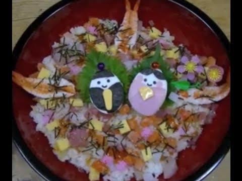 How to make kawaii Hinamatsuri Chirashizushi ひな祭りキャラご飯ちらし寿司の作り方レシピ
