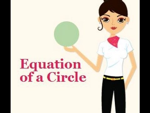 Equation of a Circle when the origin is the center of the circle