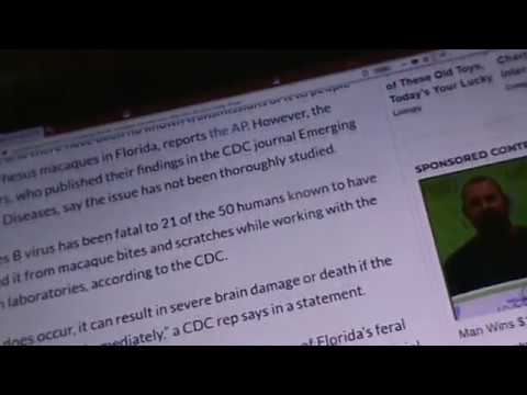 OMG! HEALTH ALERT: HERPES B VIRUS CARRY'N MONKEYS FL, BITE/SCRATCH, YOU COULD DIE!! PART 2 OF 2