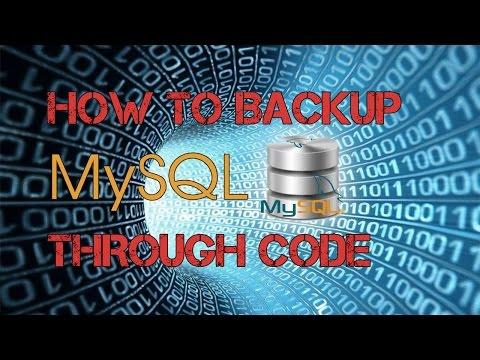 How to Backup MySql Database Through Code