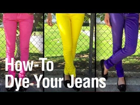 How-To Dye your Jeans in the Washing Machine