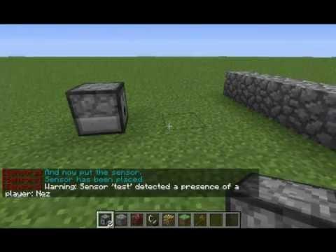 Sensors - a bukkit plugin that allows to create and manage sensors