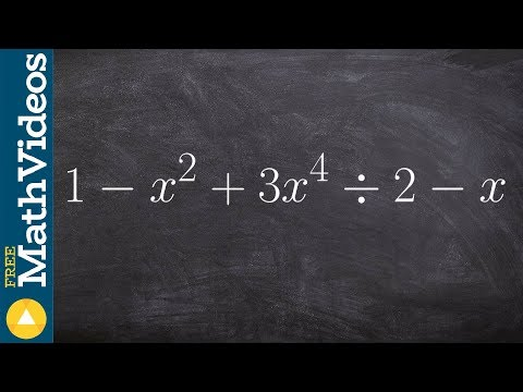 Apply synthetic division with missing terms and check your answer with remainder theorem