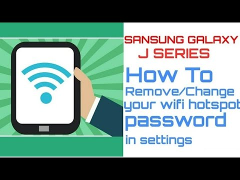Remove/Change your own wifi hotspot password in settings - 2017 . 👈😎👍
