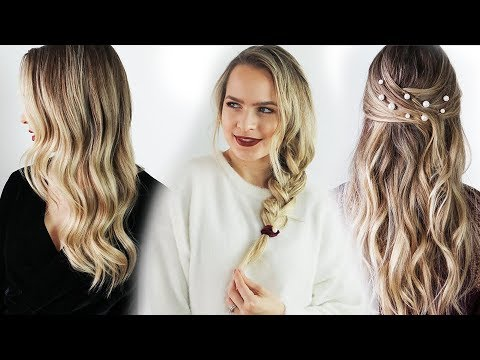 3 Days of Holiday Hairstyles (Long and Short Hair!!) - KayleyMelissa