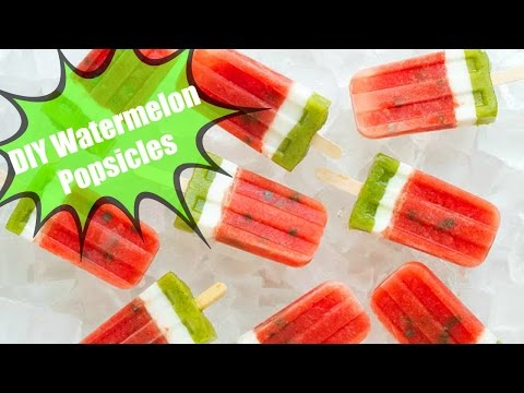 DIY Summer Watermelon Popsicles