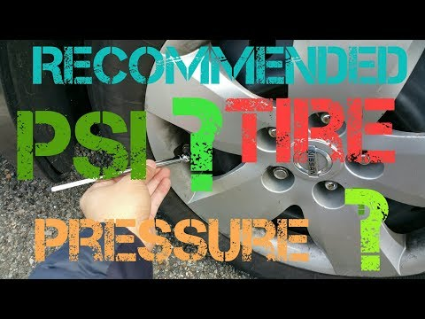 HOW TO FIND YOUR CAR'S  recommended TIRE PSI and CHECK/ADJUST TIRE PRESSURE...