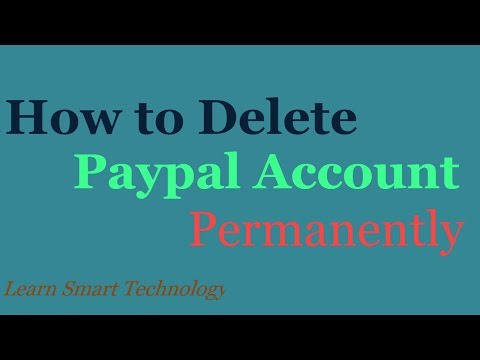 Paypal Account : Permanently Delete